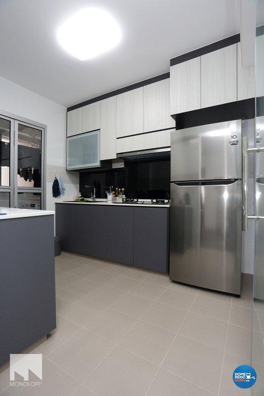 Minimalist, Scandinavian Design - Kitchen - HDB 4 Room - Design by MONOLOFT