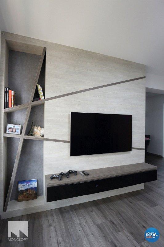 Minimalist, Scandinavian Design - Living Room - HDB 4 Room - Design by MONOLOFT