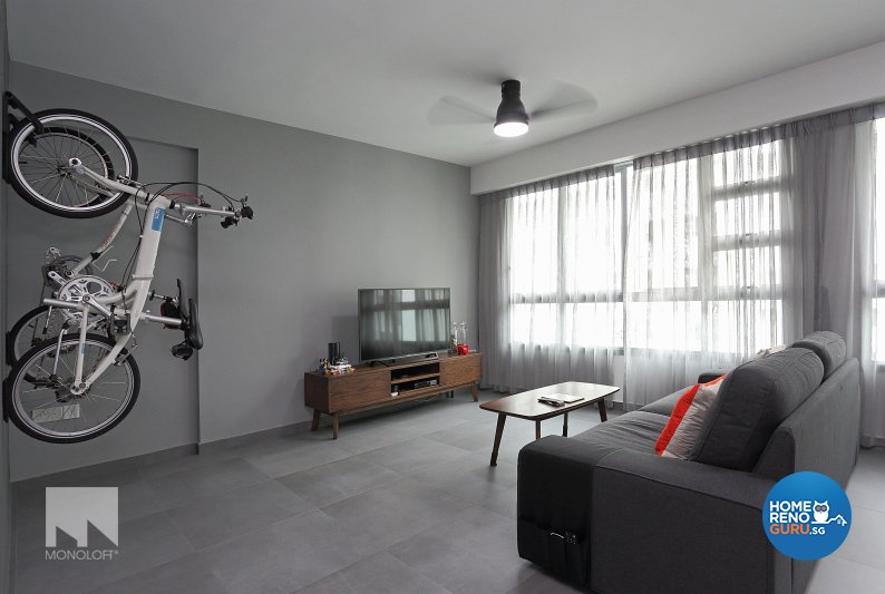 Minimalist Design - Living Room - HDB 5 Room - Design by MONOLOFT