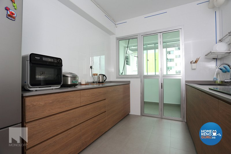 Minimalist Design - Kitchen - HDB 5 Room - Design by MONOLOFT