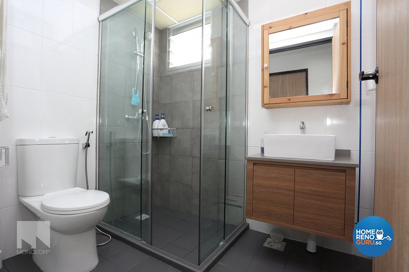 Minimalist Design - Bathroom - HDB 5 Room - Design by MONOLOFT