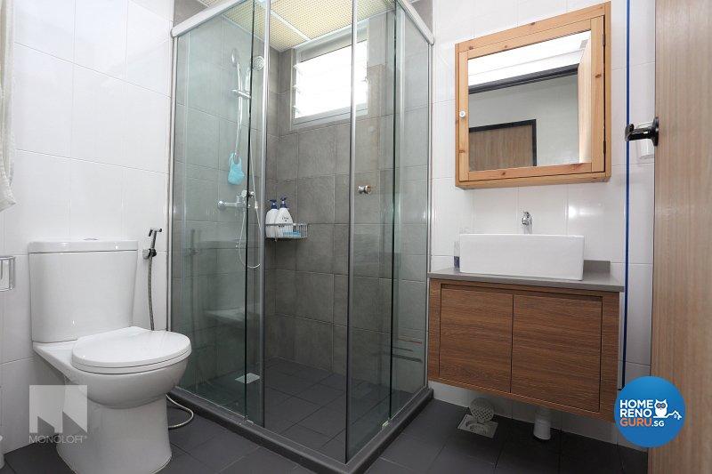 Minimalist Design - Bathroom - HDB 5 Room - Design by MONOLOFT