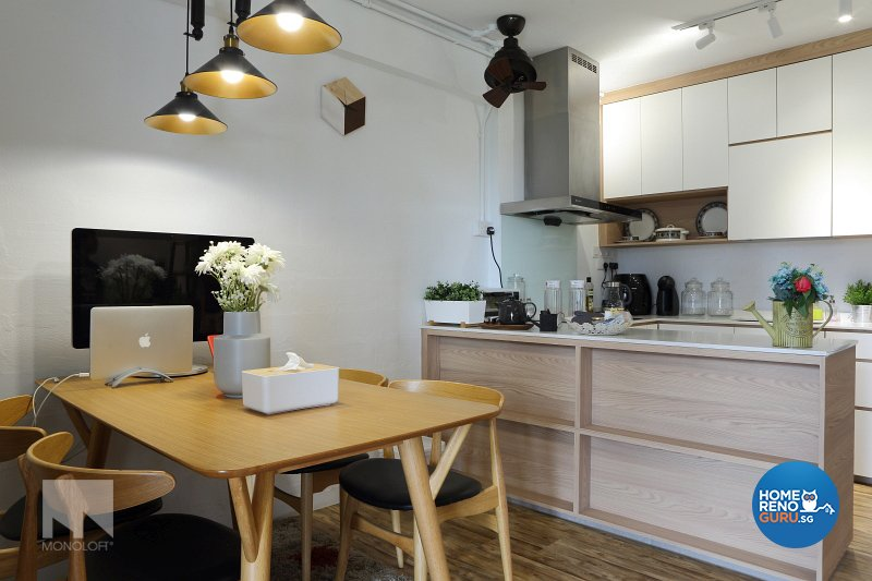 Scandinavian Design - Kitchen - HDB 3 Room - Design by MONOLOFT