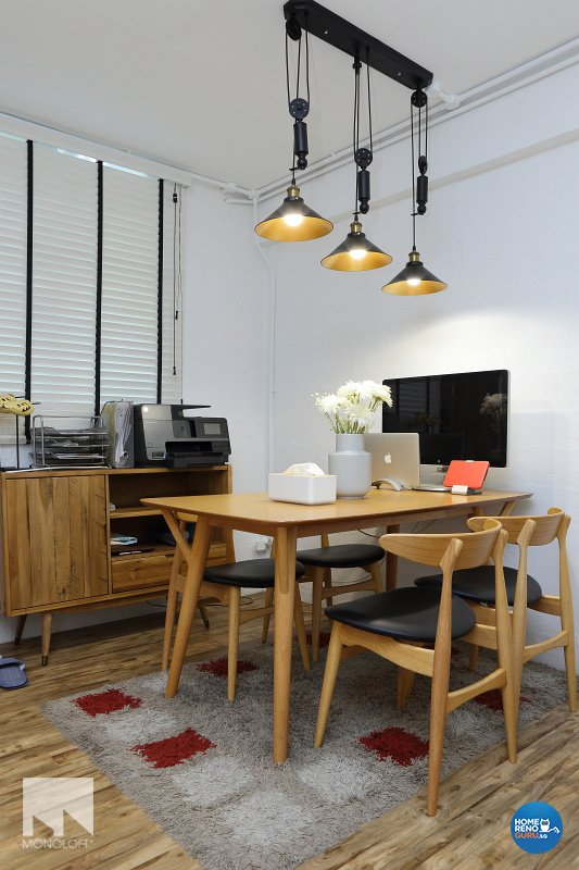 Scandinavian Design - Dining Room - HDB 3 Room - Design by MONOLOFT