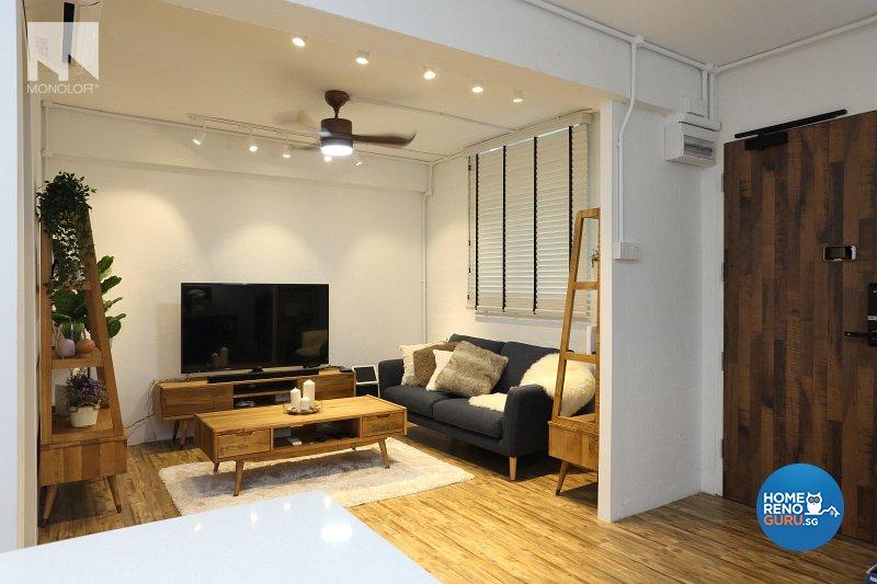 Scandinavian Design - Living Room - HDB 3 Room - Design by MONOLOFT
