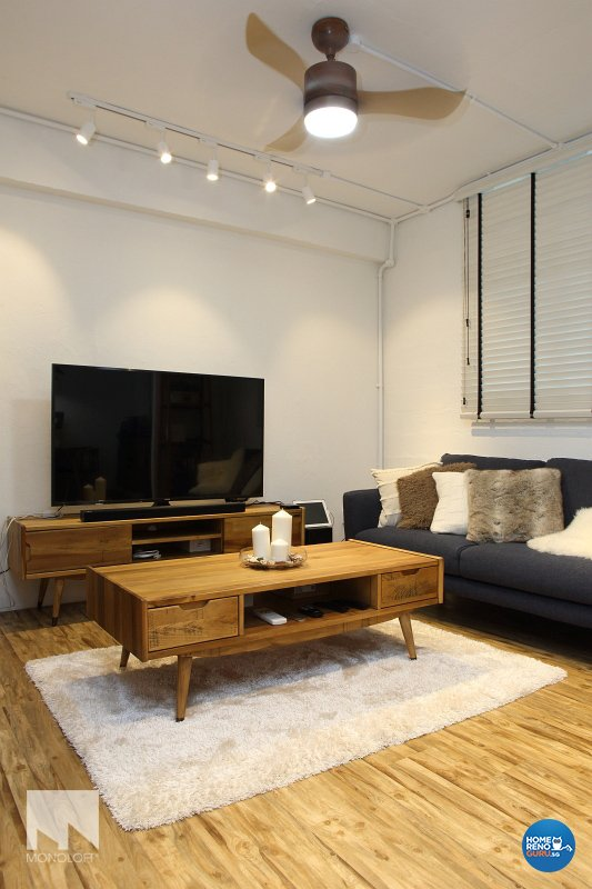 Scandinavian Design - Living Room - HDB 3 Room - Design by MONOLOFT