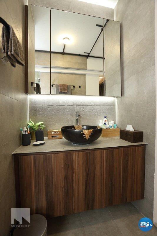 Scandinavian Design - Bathroom - HDB 3 Room - Design by MONOLOFT