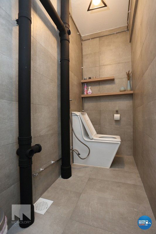 Scandinavian Design - Bathroom - HDB 3 Room - Design by MONOLOFT