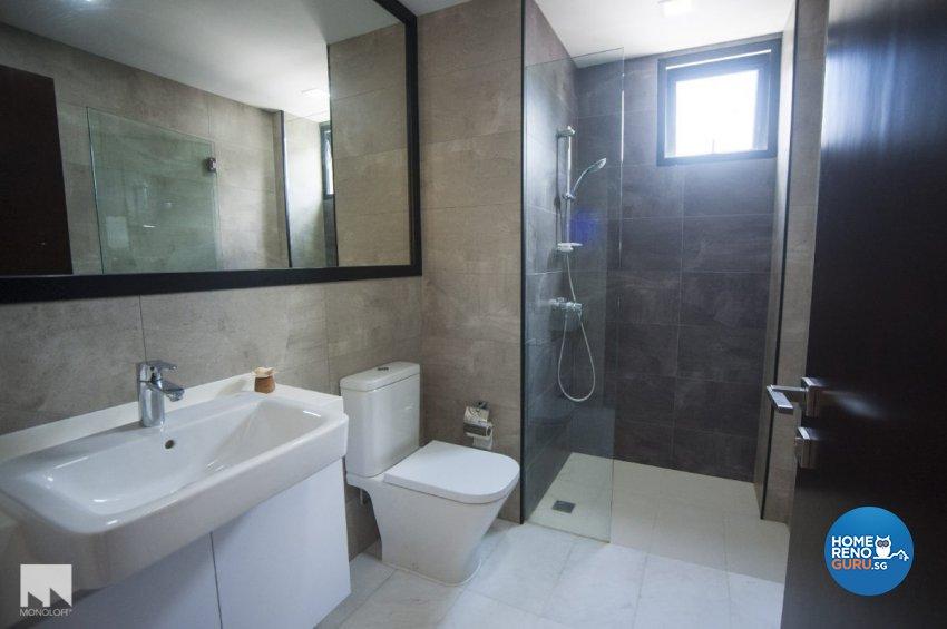 Minimalist, Scandinavian Design - Bathroom - Condominium - Design by MONOLOFT