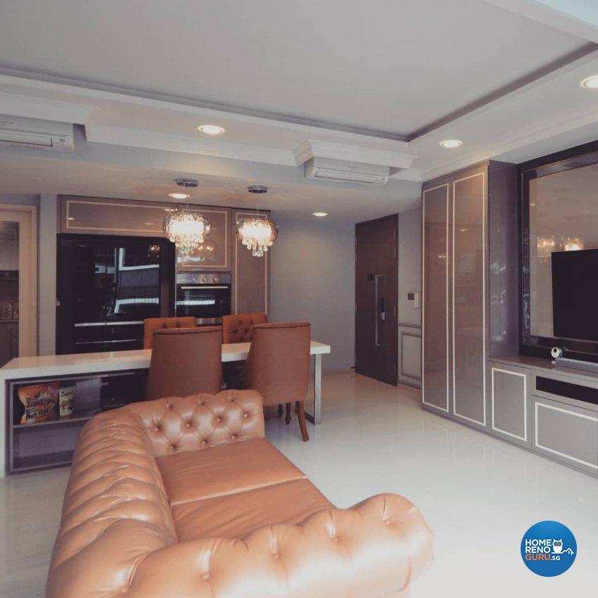 Victorian Design - Living Room - Condominium - Design by MU STUDIO SG PTE LTD