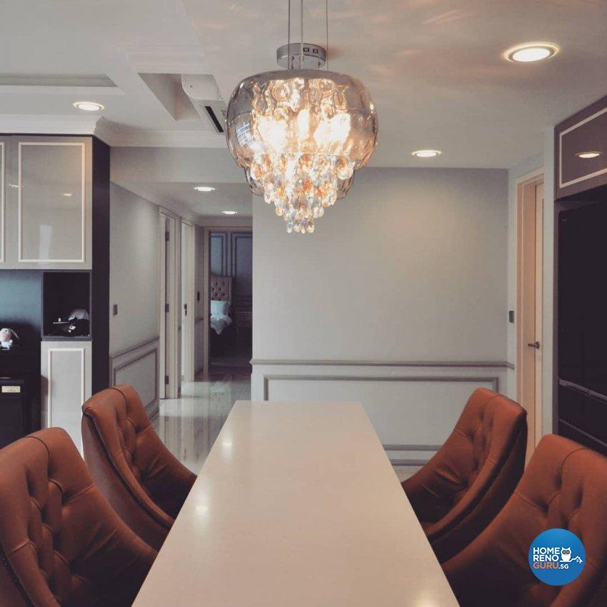 Victorian Design - Dining Room - Condominium - Design by MU STUDIO SG PTE LTD