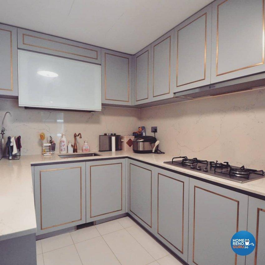 Victorian Design - Kitchen - Condominium - Design by MU STUDIO SG PTE LTD