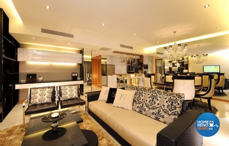 Classical, Modern Design - Living Room - HDB 5 Room - Design by MyDesign Interiors Pte Ltd