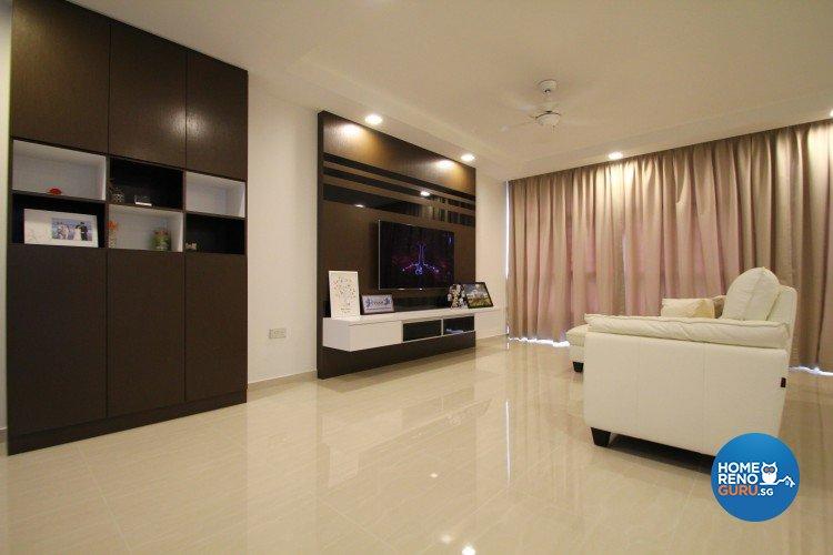 Minimalist, Modern Design - Living Room - HDB 4 Room - Design by Nativ9 Design LLP