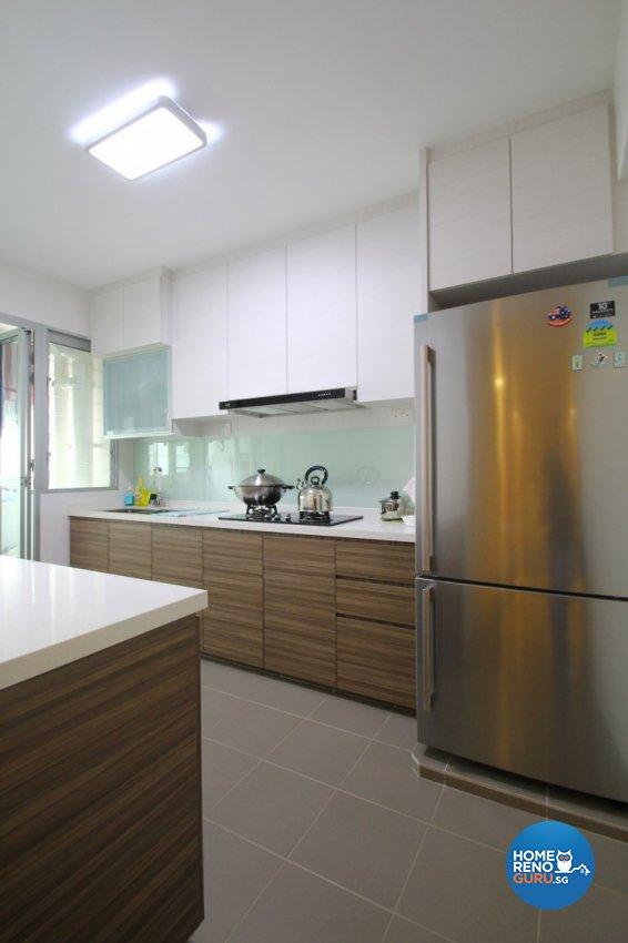 Minimalist, Modern Design - Kitchen - HDB 4 Room - Design by Nativ9 Design LLP