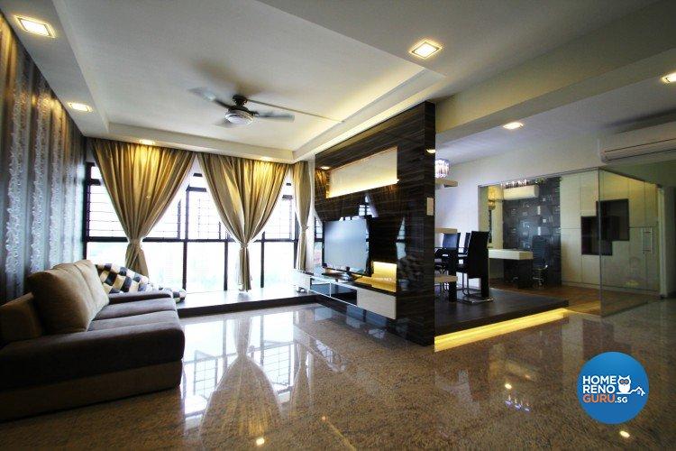 Contemporary, Scandinavian Design - Living Room - HDB 5 Room - Design by Nativ9 Design LLP