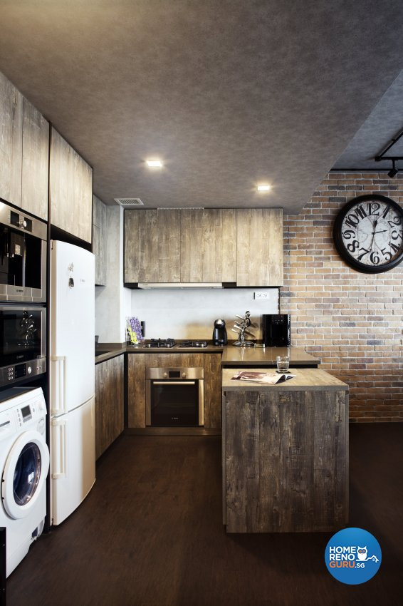 Industrial, Rustic Design - Kitchen - Condominium - Design by Neu Konceptz Pte Ltd