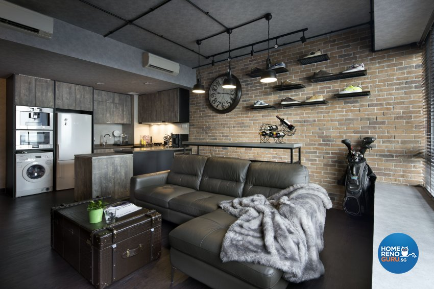 Industrial, Rustic Design - Living Room - Condominium - Design by Neu Konceptz Pte Ltd