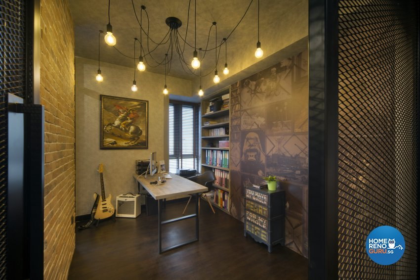 Industrial, Rustic Design - Study Room - Condominium - Design by Neu Konceptz Pte Ltd