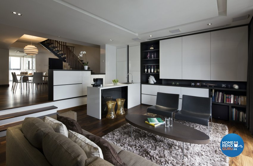 Contemporary, Eclectic, Modern Design - Living Room - Condominium - Design by Neu Konceptz Pte Ltd