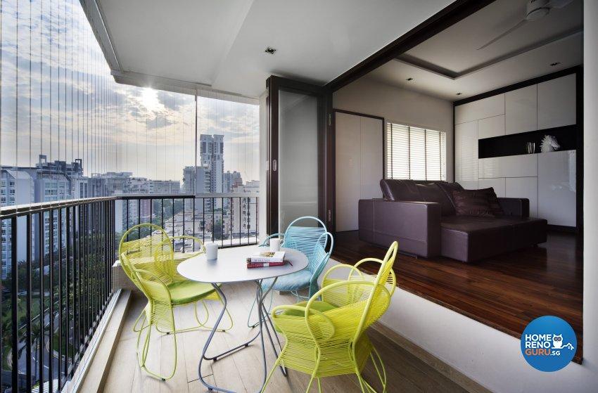 Contemporary, Eclectic, Modern Design - Balcony - Condominium - Design by Neu Konceptz Pte Ltd