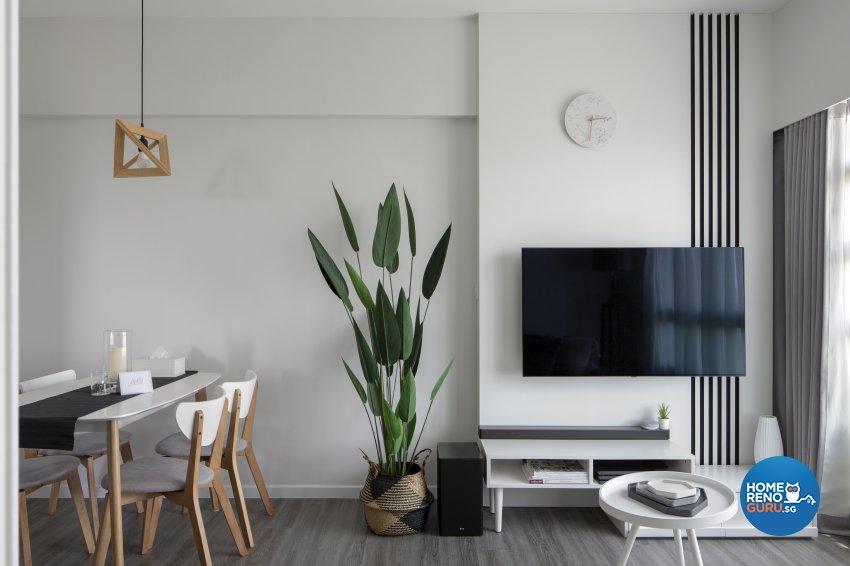 Minimalist, Modern Design - Living Room - HDB 3 Room - Design by Neu Konceptz Pte Ltd