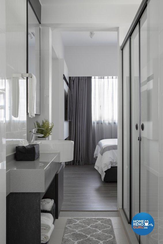 Minimalist, Modern Design - Bathroom - HDB 3 Room - Design by Neu Konceptz Pte Ltd