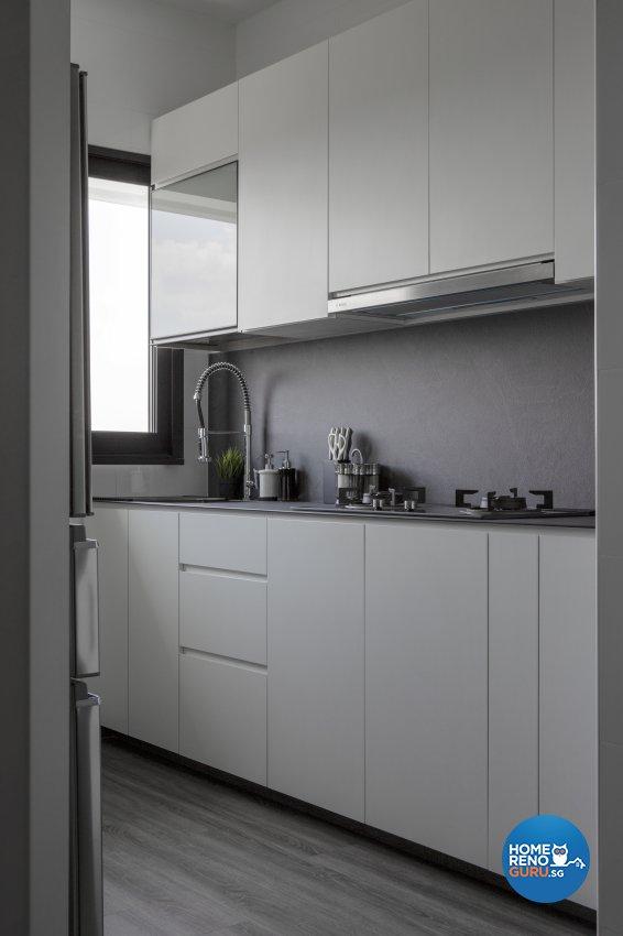 Minimalist, Modern Design - Kitchen - HDB 3 Room - Design by Neu Konceptz Pte Ltd