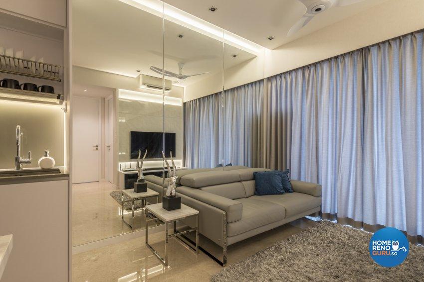 Contemporary, Minimalist, Modern Design - Living Room - Condominium - Design by Neu Konceptz Pte Ltd