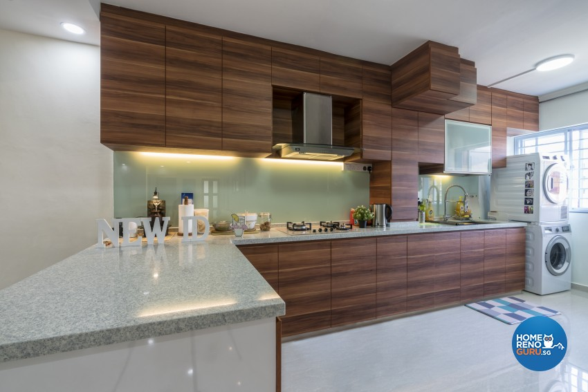 Modern, Scandinavian Design - Kitchen - HDB Executive Apartment - Design by New Interior Design