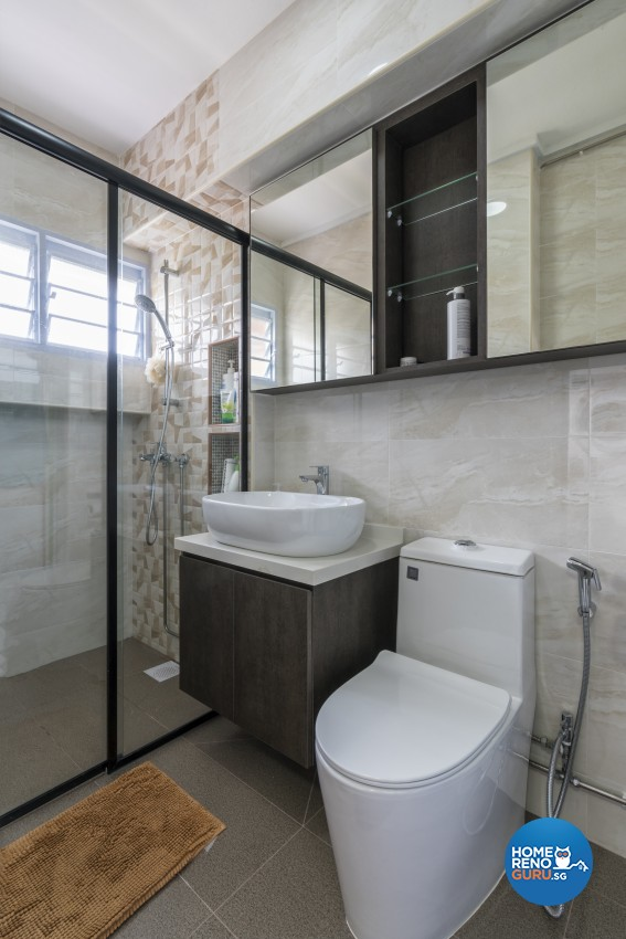 Modern, Scandinavian Design - Bathroom - HDB Executive Apartment - Design by New Interior Design