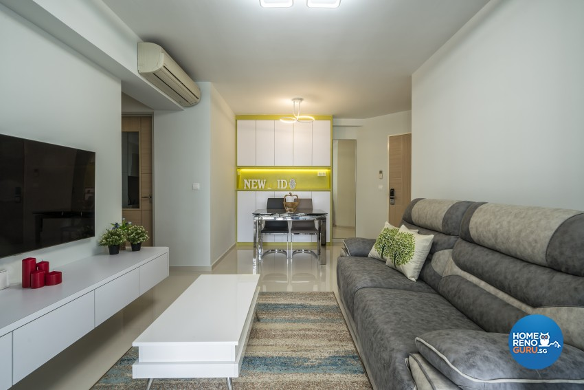 Modern Design - Living Room - HDB 4 Room - Design by New Interior Design