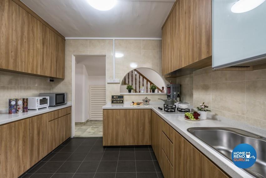 Modern Design - Kitchen - HDB Executive Apartment - Design by New Interior Design