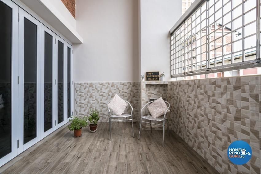 Modern Design - Balcony - HDB Executive Apartment - Design by New Interior Design