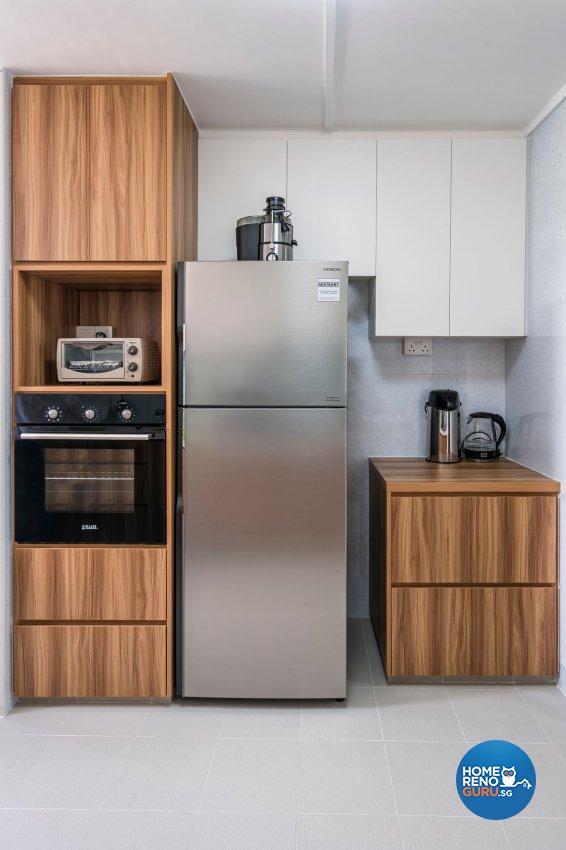 Contemporary, Modern Design - Kitchen - HDB 3 Room - Design by New Interior Design