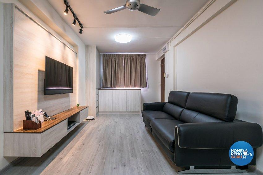 Contemporary, Modern Design - Living Room - HDB 3 Room - Design by New Interior Design