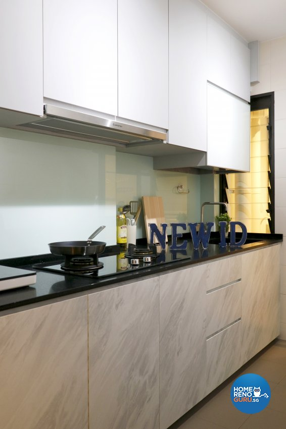 Modern Design - Kitchen - HDB 3 Room - Design by New Interior Design