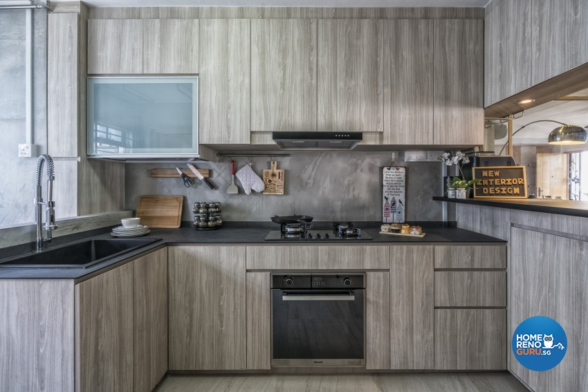 Industrial, Scandinavian Design - Kitchen - HDB 4 Room - Design by New Interior Design