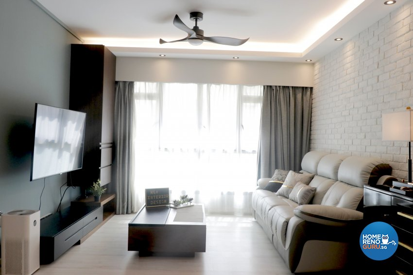 Modern Design - Living Room - HDB 5 Room - Design by New Interior Design