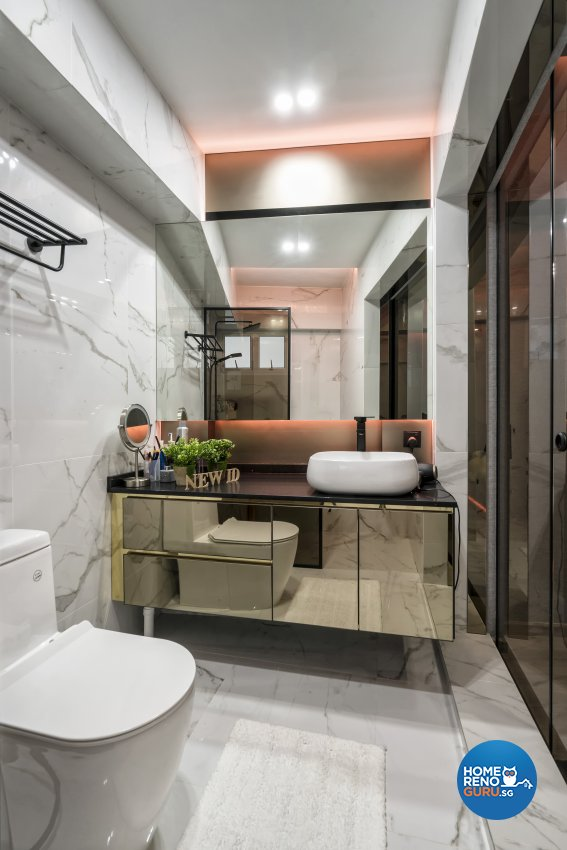 Contemporary Design - Bathroom - HDB 5 Room - Design by New Interior Design