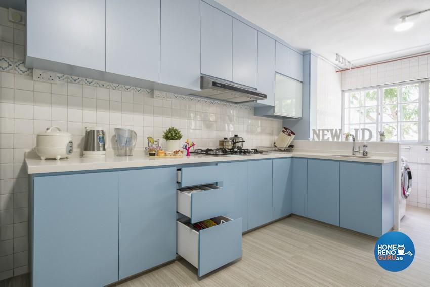 Modern Design - Kitchen - HDB 3 Room - Design by New Interior Design