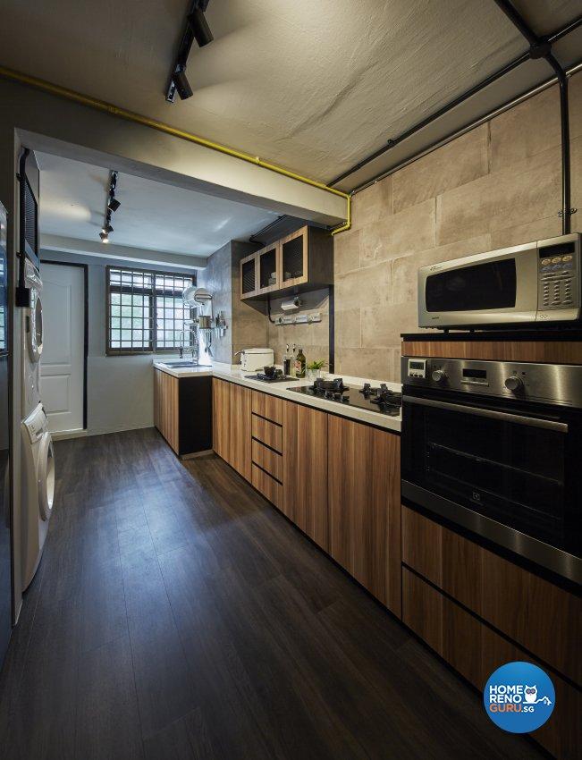 Industrial, Rustic Design - Kitchen - HDB 3 Room - Design by New Interior Design