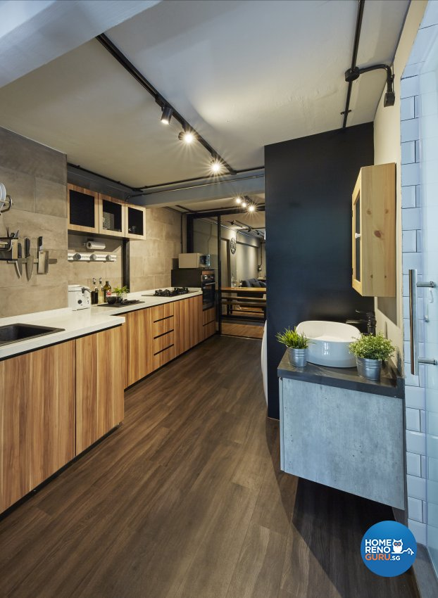 Industrial, Rustic Design - Kitchen - HDB 3 Room - Design by New Interior Design