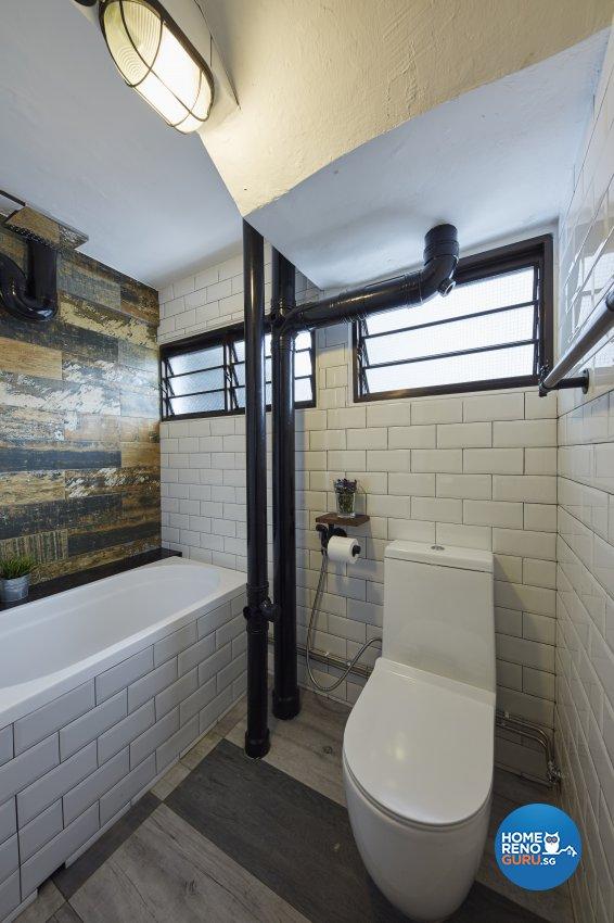 Industrial, Rustic Design - Bathroom - HDB 3 Room - Design by New Interior Design