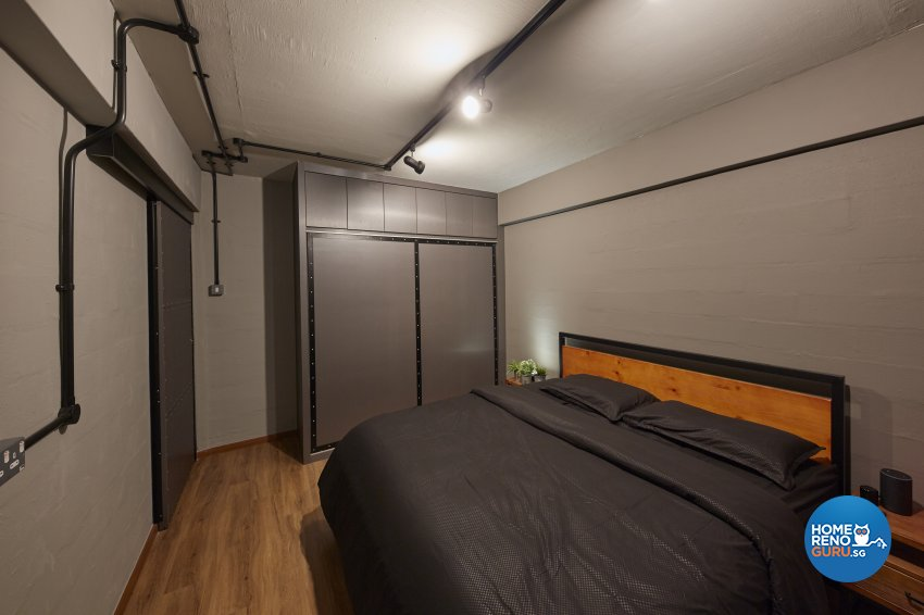 Industrial, Rustic Design - Bedroom - HDB 3 Room - Design by New Interior Design