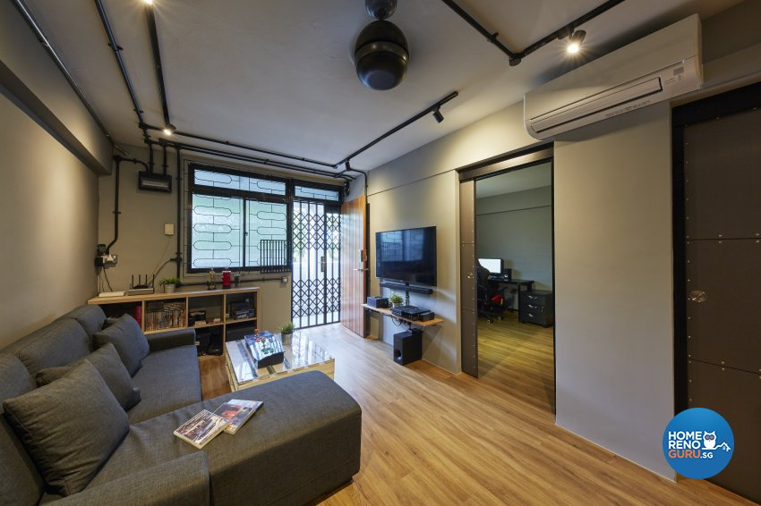 Industrial, Rustic Design - Living Room - HDB 3 Room - Design by New Interior Design