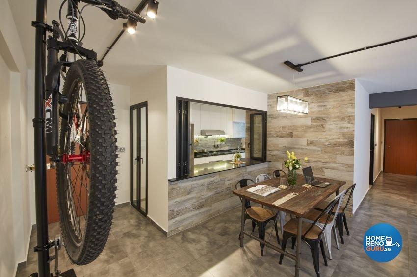 Industrial, Rustic Design - Dining Room - HDB 5 Room - Design by New Interior Design