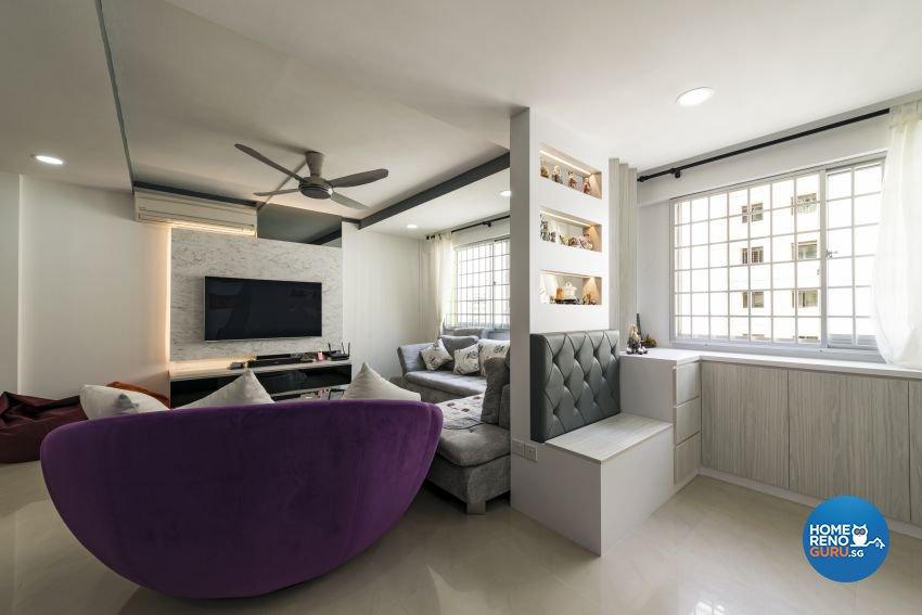 Contemporary, Modern Design - Living Room - HDB 4 Room - Design by New Interior Design