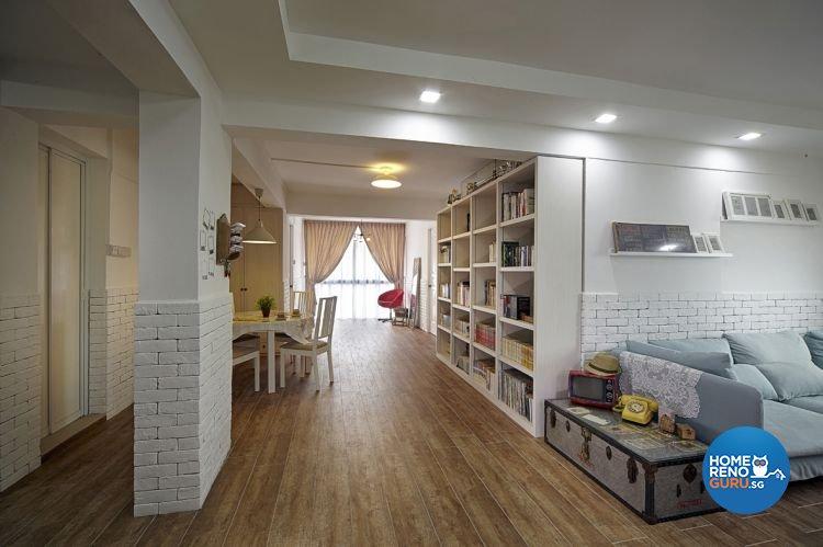Contemporary, Retro Design - Living Room - HDB 5 Room - Design by New Interior Design