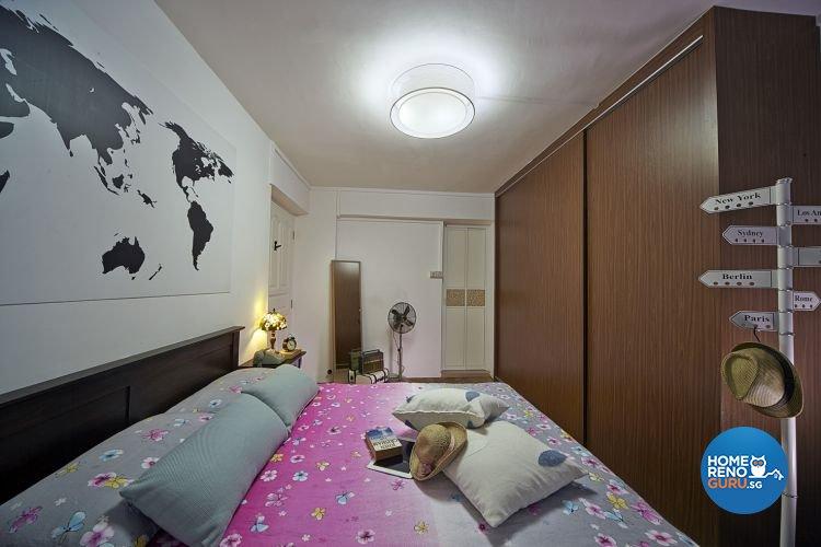 Contemporary, Retro Design - Bedroom - HDB 5 Room - Design by New Interior Design